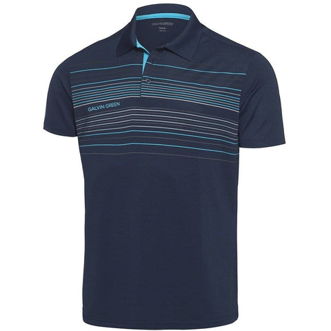Galvin Green Mateo Ventil8+ Polo Shirt in Navy / River Blue / Snow Polo Shirts Galvin Green