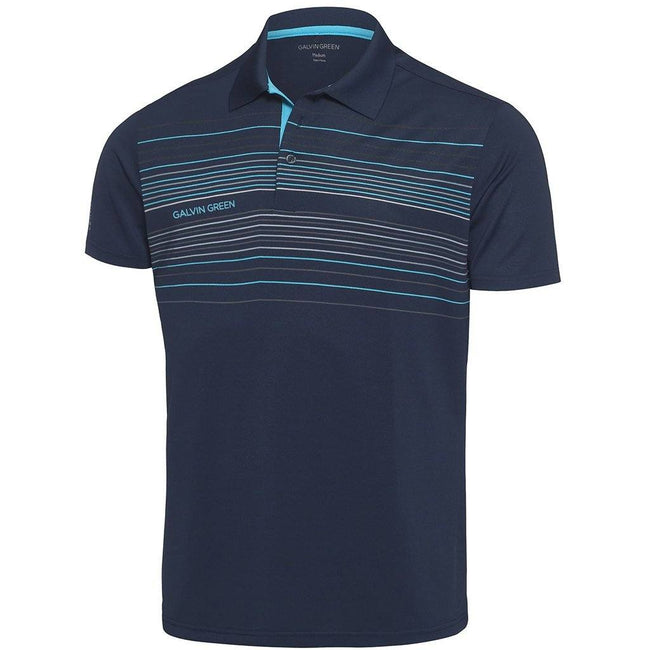 Galvin Green Mateo Ventil8+ Polo Shirt in Navy / River Blue / Snow