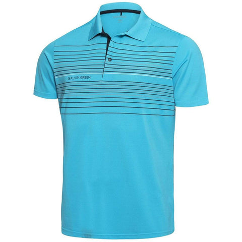 Galvin Green Mateo Ventil8+ Polo Shirt in River Blue / Navy / Snow Polo Shirts Galvin Green