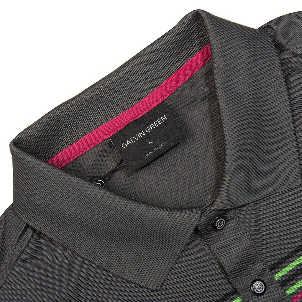 Galvin Green Mayer V8+ Polo Shirt in Iron / Green