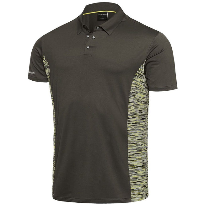 Galvin Green Merwin Ventil8+ Polo Shirt in Beluga / Lemonade / Snow Polo Shirts Galvin Green