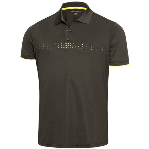 Galvin Green Milo Ventil8+ Polo Shirt in Beluga / Lemonade / Snow Polo Shirts Galvin Green