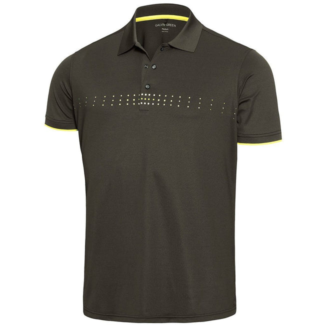 Galvin Green Milo Ventil8+ Polo Shirt in Beluga / Lemonade / Snow