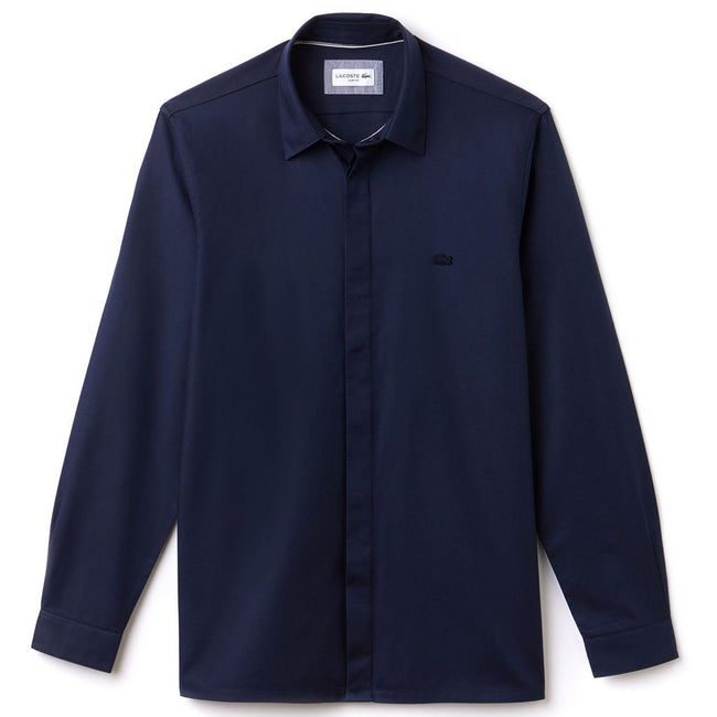 Lacoste CH0704-166 Slim Fit Motion Cotton Piqué Shirt in Navy