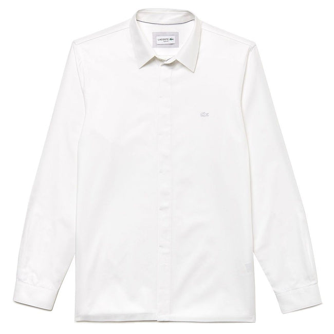 Lacoste CH0704-001 Slim Fit Motion Cotton Piqué Shirt in White