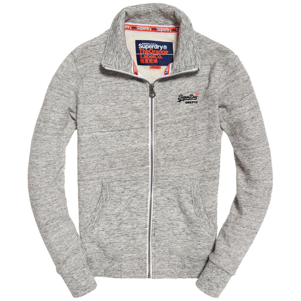 Superdry Orange Label Track Top in Pacific Grey Jumpers Superdry