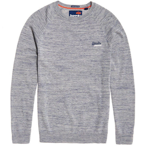 Superdry Orange Label Cotton Crew in Seattle Denim Grindle Jumpers Superdry