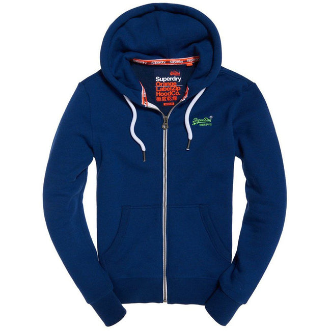 Superdry Orange Label Ziphood  in Utah Royal Grit