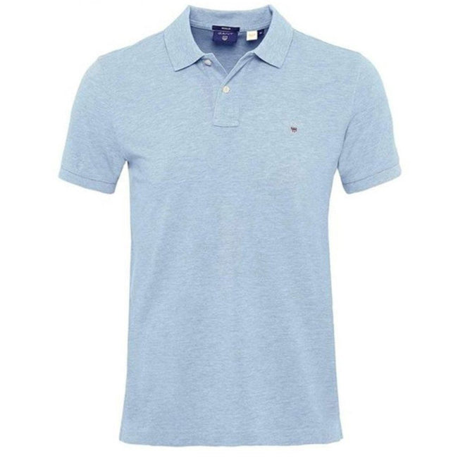 Gant The Original Pique SS Rugger Polo Shirt in Capri Blue