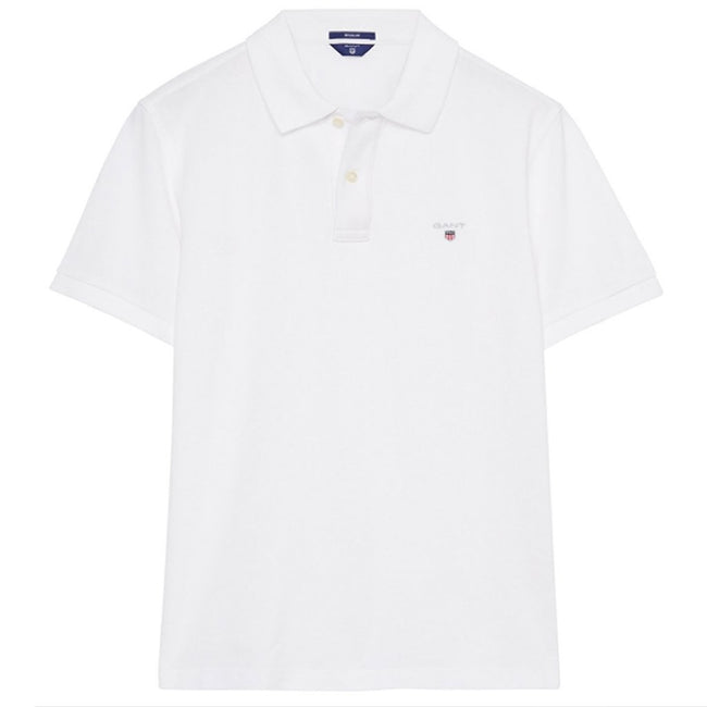 Gant The Original Pique SS Rugger in White Polo Shirts Gant