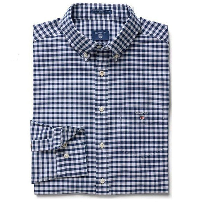 Gant The Oxford Gingham Regular Fit in Persian Blue