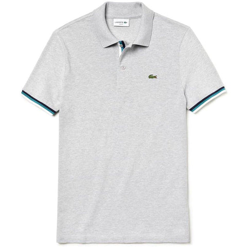 PH4220-CCA Slim Fit Piped Polo Shirt in Grey Polo Shirts Lacoste