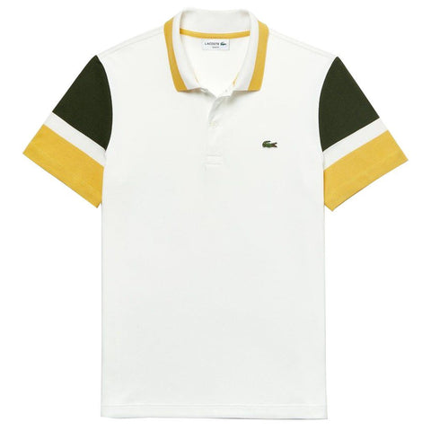 PH4223-7RW Polo Shirt in White / Yellow / Green Polo Shirts Lacoste