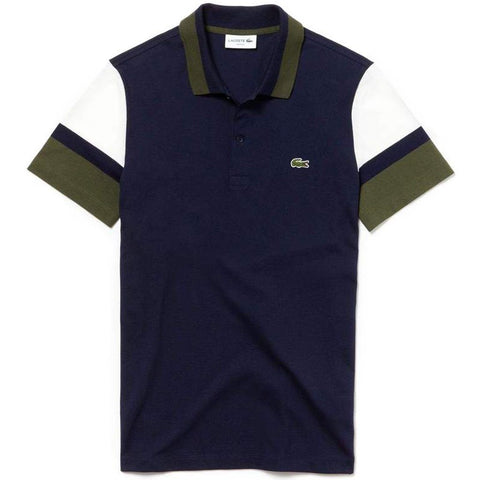 PH4223-9MY Polo Shirt in Navy Blue / White / Khaki Green Polo Shirts Lacoste