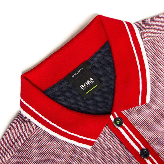 BOSS Athleisure Paddy 2 Polo Shirt in Red Polo Shirts BOSS