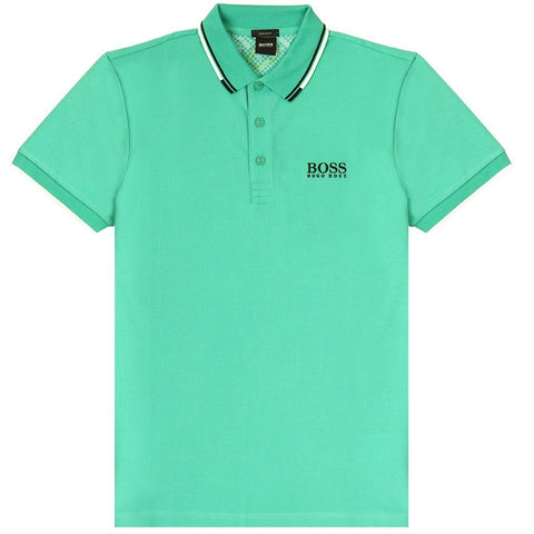 Athleisure Paddy Pro Polo Shirt in Green Polo Shirts BOSS