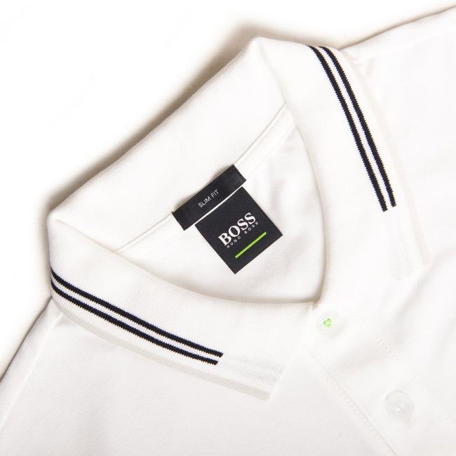 BOSS Athleisure Paul Polo Shirt in White
