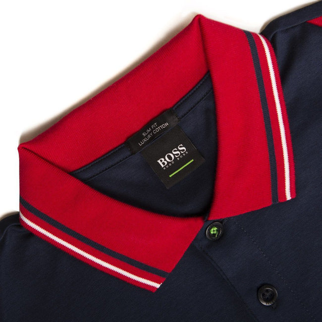 BOSS Athleisure Paule 1 Polo Shirt in Navy Polo Shirts BOSS