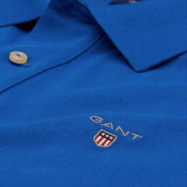 Gant The Original Pique SS Rugger in Nautical Blue Polo Shirts Gant