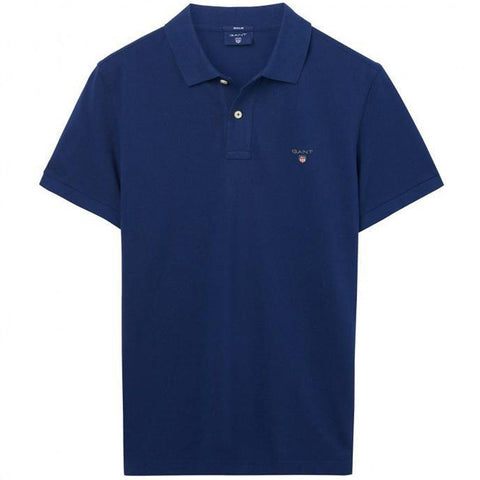 Gant The Original Pique SS Rugger in Persian Blue Polo Shirts Gant