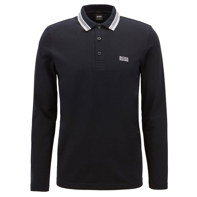 BOSS Athleisure Plisy Regular Fit Polo Shirt in Black