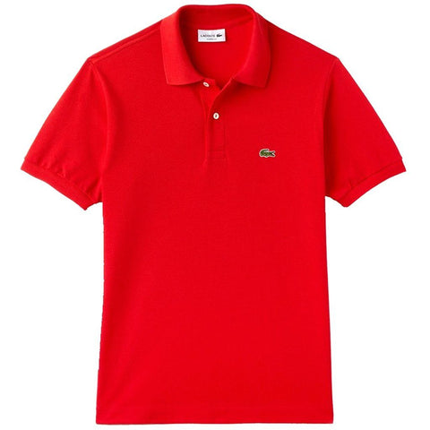 Lacoste L1212 240 Classic Fit Polo Shirt in Bright Red Polo Shirts Lacoste