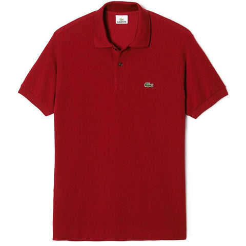Lacoste Polo Shirt L1212-476 in Red Polo Shirts Lacoste