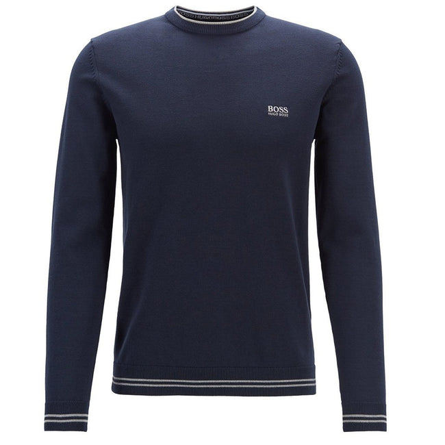 BOSS Athleisure Rimex Crew Neck Jumper in Navy Jumpers BOSS