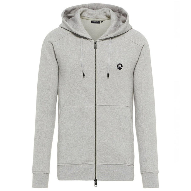 J. Lindeberg Throw Ring Loop Zip-Up Hoodie in Grey