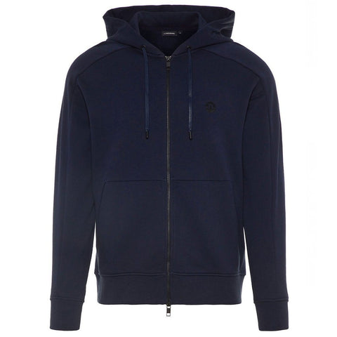 J. Lindeberg Throw Ring Loop Zip-Up Hoodie in Navy Hoody J. Lindeberg