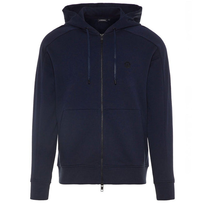 J. Lindeberg Throw Ring Loop Zip-Up Hoodie in Navy