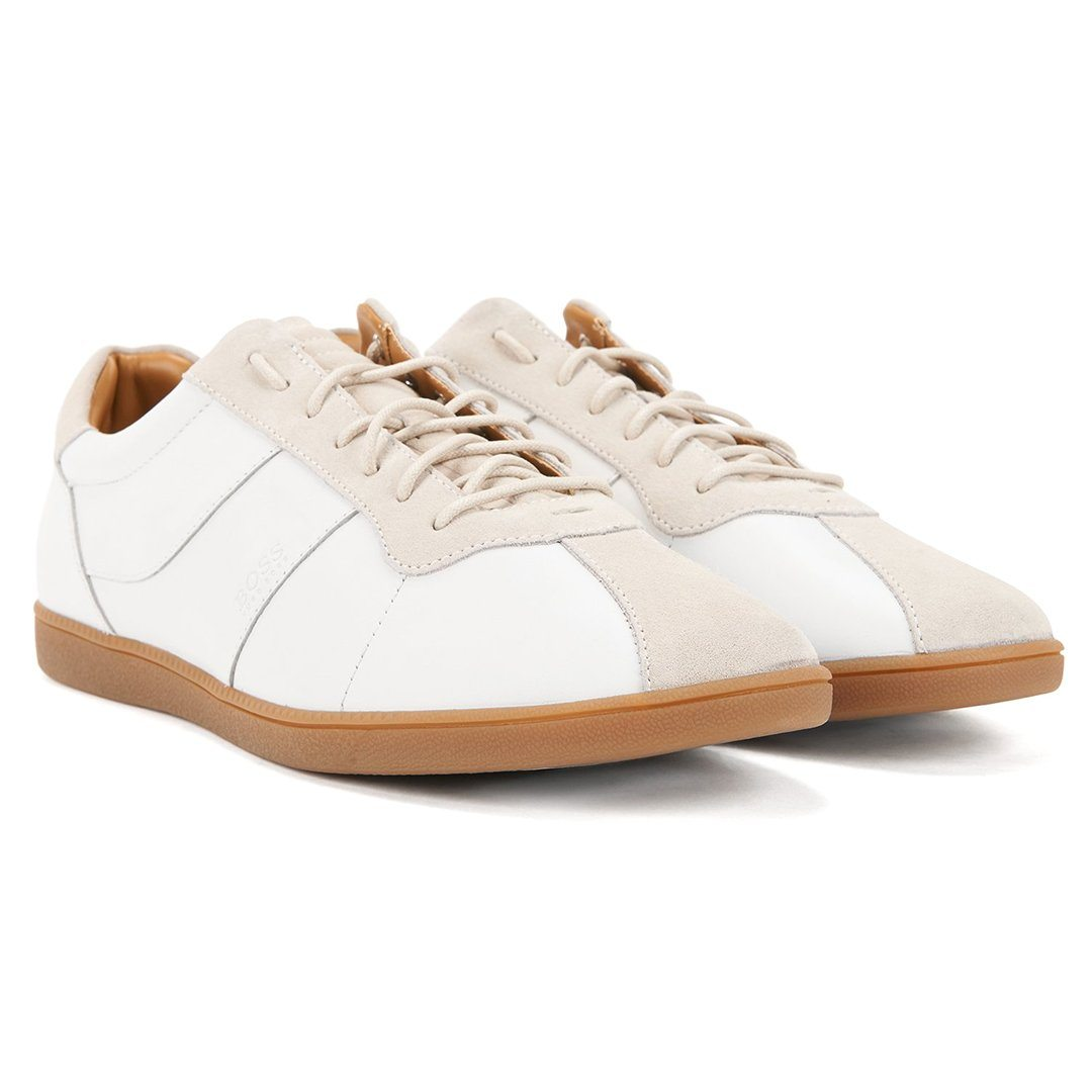 BOSS Athleisure Rumba Tennis Style Trainer in White Trainers BOSS
