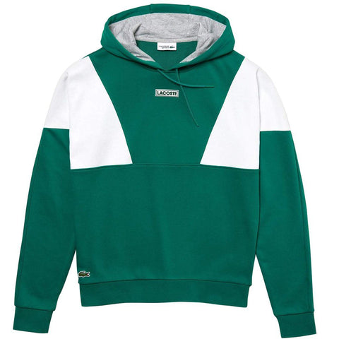 Lacoste Sport SH3498-6NK Hooded Sweatshirt in Woodland Green / White Hoodies Lacoste