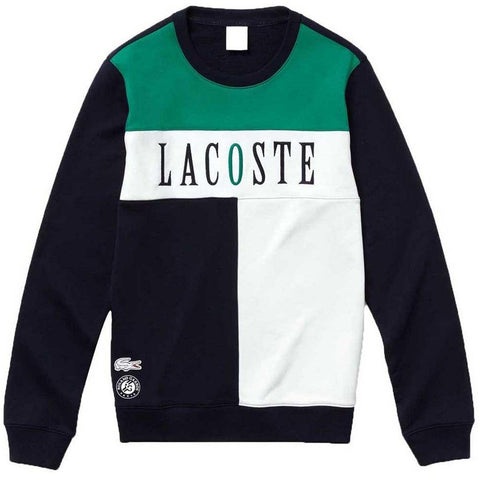 SH3542-847 French Open Edition Sweatshirt in Navy / White / Green Jumpers Lacoste Sport