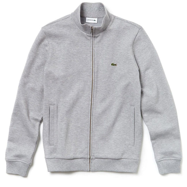 Lacoste SH4317-CCA Full Zip Turtle Neck in Grey Jumpers Lacoste