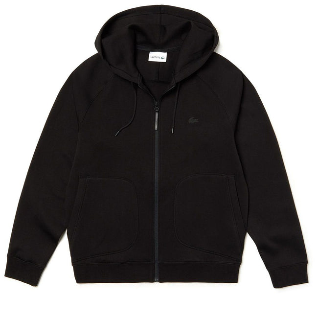 Lacoste SH4325-031 Full Zip Hoodie in Black
