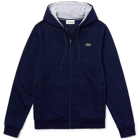 SH7609-KZA Full Zip Hooded Sweatshirt in Navy Hoodies Lacoste Sport