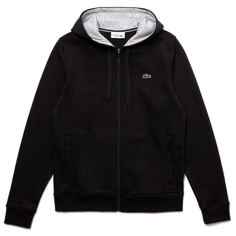 SH7609-SNP Full Zip Hooded Sweatshirt in Black Hoodies Lacoste