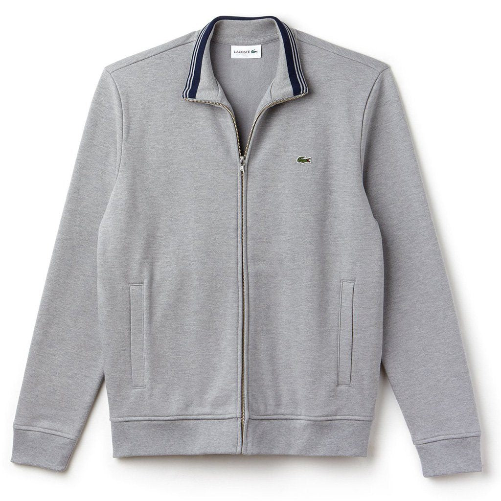 Lacoste SH9257-DQ6 Full Zip Sweatshirt in Grey