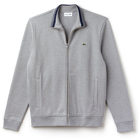 Lacoste SH9257-DQ6 Full Zip Sweatshirt in Grey Jumpers Lacoste