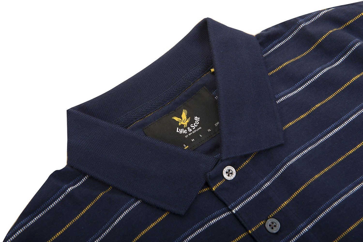 Lyle & Scott  Pick Stitch Polo Shirt in Navy