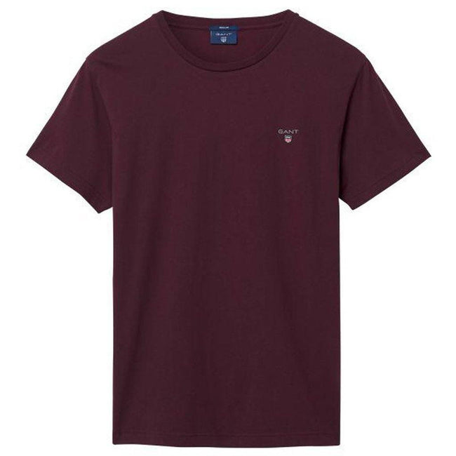 Gant The Original SS T-Shirt in Purple Fig