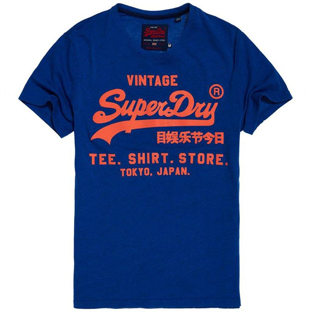 Superdry Shirt Shop Tee in Portland Cobalt Grit