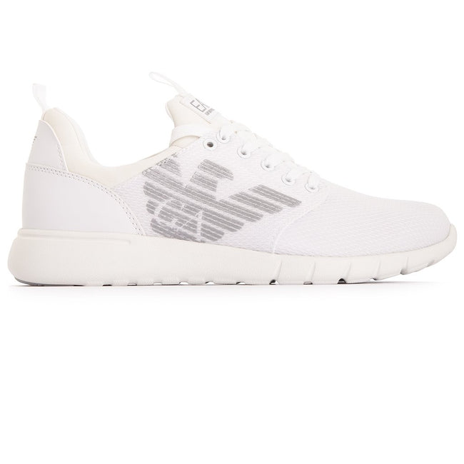 Emporio Armani EA7 Mesh Sneakers in White
