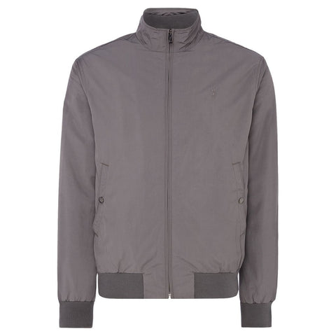 Ralph Lauren Southport Tech-Look Harrington in Grey Coats & Jackets Ralph Lauren