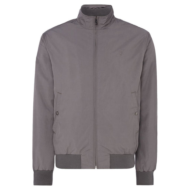 Ralph Lauren Southport Tech-Look Harrington in Grey