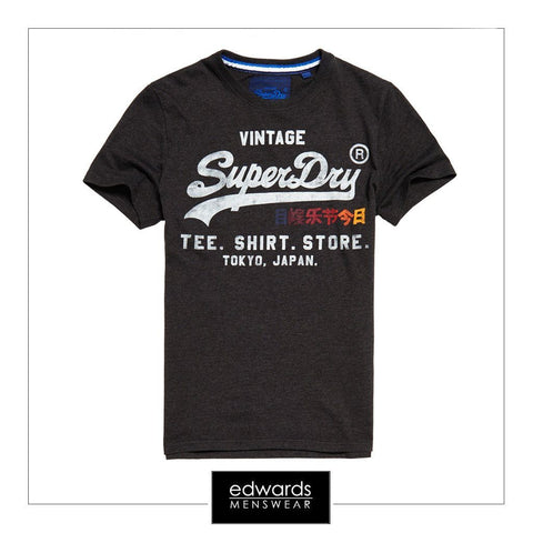 Superdry Shirt Shop Surf Tee in Charcoal Marl