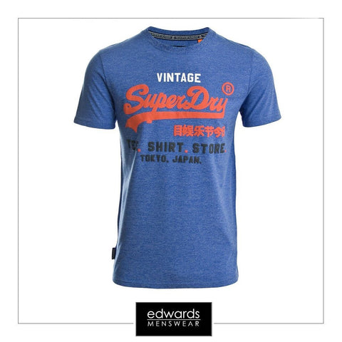 Superdry Shirt Shop Tri Tee in Blue