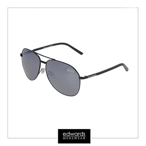 Superdry Super Jet Sunglasses in Black/Matt Black