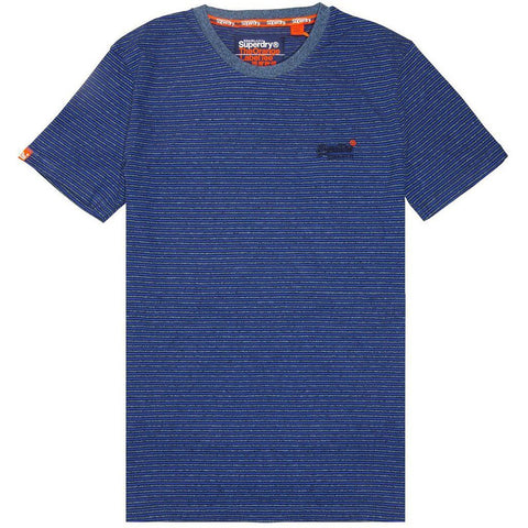 SUPERDRY ORANGE LABEL VINTAGE SHORT SLEEVED T-SHIRT IN COBALT/GREY MELANGE T-Shirts Superdry